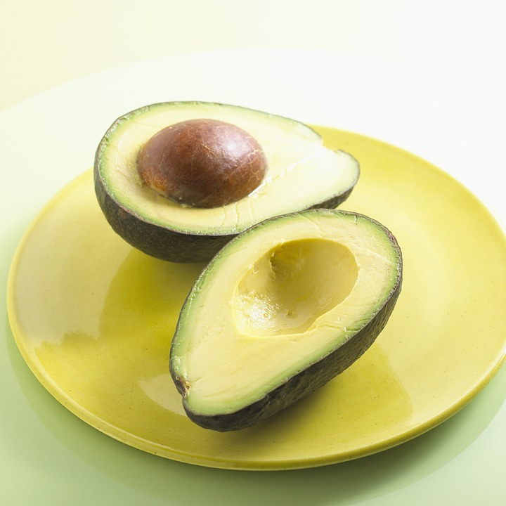 avocado halves on plate